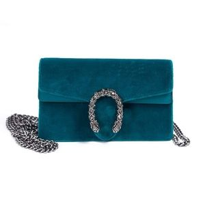 Super Mini Dionysus Velvet Shoulder Bag